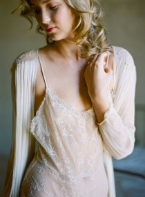 wedding photo - Magnolia French Chantilly Lace And Tulle Bodysuit In Nude S