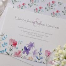 wedding photo -  Pretty Wildflowers Rustic Wedding Set