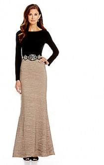 f63fa74fe Cachet Embellished Waist Mermaid Gown