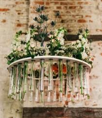 wedding photo - Creative Chandelier Made With Test Tubes