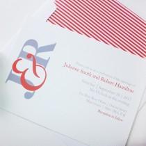 wedding photo -  Fiesta, a contemporary monogram wedding invitation