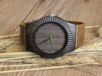 Personalized Mens Gift Fiance Wedding For Husband Engraved Wooden Watch Boyfriend Birthday Men