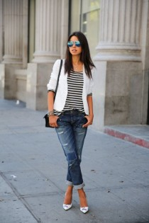 wedding photo - How to wear boyfriend jeans stylishly