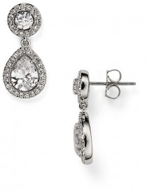 wedding photo - Nadri Swarovski Crystal Drop Earrings