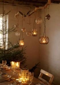 wedding photo - DIY  Rustic Tree Branch Chandeliers
