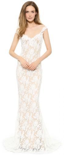 6d0b2e856169 Reem Acra Lace Low Back Gown