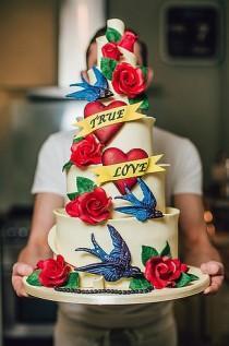 wedding photo - 13 Ideas Radicales Para Una Boda Inspirada En Tatuajes