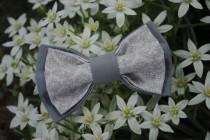 wedding photo - Gray groomsmen's bow tie Wedding bow tie Well to coordinate with Bridesmaid Dresses in Frost Silver Steel grey Mariage en gris Handmade ties