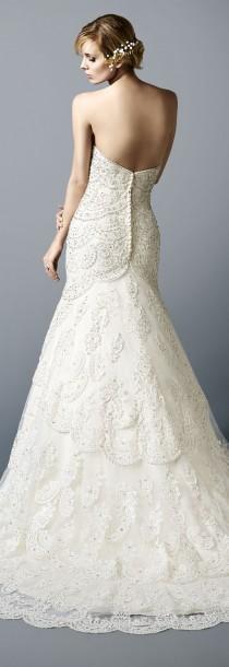 wedding photo - Vintage Layered Lace Sweetheart Neckline Wedding Dress With Beading