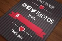 wedding photo - DIY - Printable Event hashtag poster