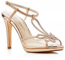 wedding photo - Caparros Claudia Metallic Platform High Heel Sandals