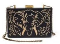 wedding photo - Valentino Elephant Wood & Metal Clutch