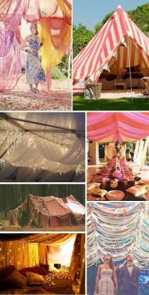 wedding photo - Tents, Canopies And Chuppahs For The Hippie In You