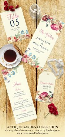 wedding photo -  Vintage day of stationery accessories