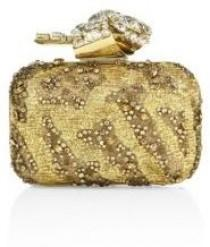wedding photo - Jimmy Choo Woven Crystal-Embroidered Clutch