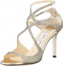 wedding photo - Jimmy Choo Ivette Glitter Fabric Crisscross Sandal