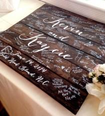 wedding photo - Wedding Guestbook Wood Sign