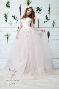 4ab7ed1f61e7 Princess Wedding Dress LARIA, , Wedding Dress, Blush Wedding Dress, The  Princess Bride, Princess Gown, Pink Wedding Dress, Bridal Dress