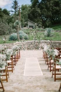 wedding photo - Whimsical White Ojai Valley Wedding Ceremony