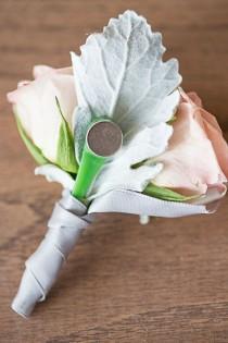 wedding photo - Beautiful Magnetic Boutonniere