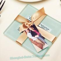 wedding photo - wedding ceremony Forever Photo Glass Coaster Souevnir BD001