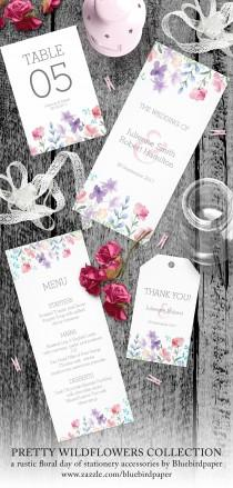 wedding photo -  Pretty Wildflowers Rustic Day of Stationery Accessories
