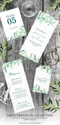 wedding photo -  Mediterranean, a modern greenery day of stationery accessories