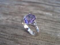 wedding photo - Amethyst Antique Engagement Ring, Antique 18k gold ring, Antique Amethyst Engagement Ring, Vintage oval Engagement Ring
