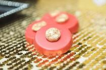 wedding photo - Red black and gold wedding  cookies