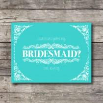 wedding photo - Will you be My Bridesmaid - Customizable - Digital Ready to Print