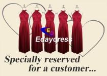wedding photo - Full Length Long Infinity Wrap Convertible Bridesmaid Dresses For weddings or Any Occasion