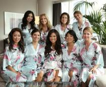 wedding photo - CD1 bridesmaid robes,best bridesmaid gifts kimono robe satin robes wedding clothes for women Not silk robe Not set of 9