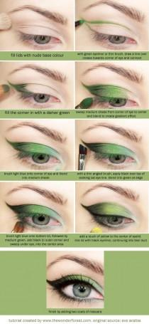 wedding photo - Green Butterfly Eyeshadow Tutorial