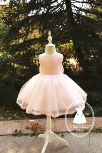 wedding photo - Flower Girl Dress with Beautiful Lace Top,Newborn Tutu,Baby Pageant Dress,Toddler glitz pageant dress, PD018-1