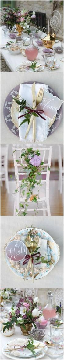 wedding photo - Garden Wedding - Tablescape ● Lavender Garden  #2026779