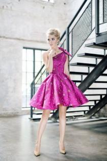 wedding photo - Hot Pink Dress