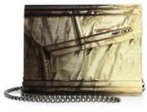 wedding photo - Jimmy Choo Candy Degrade Crinkled Lamé Fabric Acrylic Clutch