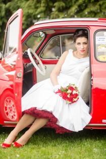 wedding photo - Matrimonio rockabilly anni '50 in rosso e bianco