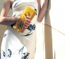 wedding photo - Retro Golden Bridal Purse,Saffron purse, Velvet plush clutch Love mini - Clutch Bag - Made to Order