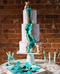 """wedding photo - @crystal.tribe On Instagram: """"Another Magnificent Geode Cake We Wanted To Share With You All! ✨ By @threetiersforcake"""""""
