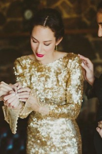 wedding photo - Golden Wedding Dress