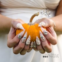 wedding photo - MY WEDDING NAILS By Sarahp898 From Nail Art Gallery