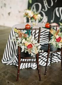 wedding photo - Wedding Chair Floral Decoration