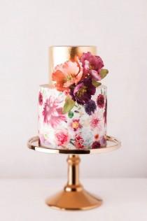 wedding photo - 10 Wedding Cake Trends, From 'Naked' Layers To Modern Geometrics Slideshow Photos