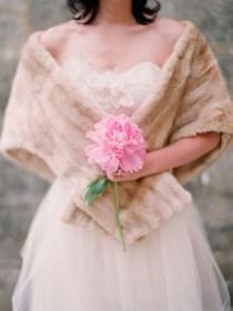 wedding photo - Now Trending: Shawls, Shrugs & Sweaters