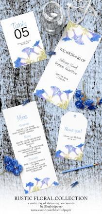wedding photo -  Rustic Floral   Blue Wedding Set