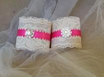 wedding photo - Pink and Ivory Napkin Holders for Country Weddings, Bridal or Baby Showers - Engagement/Rehearsal/Wedding Table Decor - Set of 25