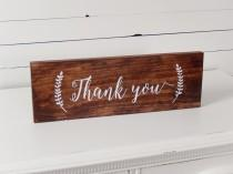 wedding photo - Thank You Sign- Wedding Photo Prop- Thank you card- Rustic Wedding- Boho Wedding- Woodland Wedding- Wedding Signs- Wood Wedding Signs