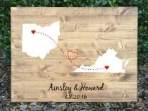 wedding photo - Rustic Wedding Guest Book, Guest Book Alternative, Wood Wedding Sign, State Wood Sign, Rustic Guest Book Alternative