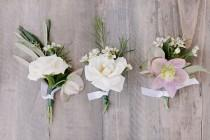 wedding photo - Casual Sophistication wedding boutonnière